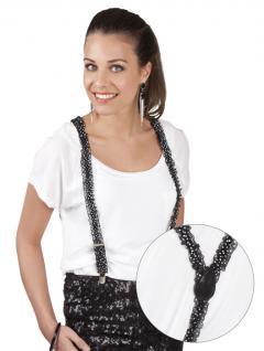 Hosenträger schwarz weiße Punkte, edel 2, 5 cm 598