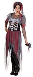 Zombie Braut Halloween Kostüm 3 tlg Damen Gr. 36 Gothic Tod edle Ausführung