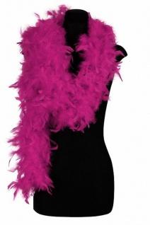 Federboa Boa pink 200 cm lang 80 g Karneval Charleston Damen - Vorschau 1