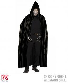 Dracula Vampir Umhang schwarz mit Kapuze, Herren