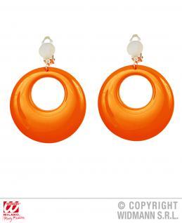 80er Jahre Ohrringe Ohrclips Ohrschmuck orange Neonfarben