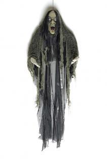 Tod, Skelett Figur Deko Hängefigur schaurig schwarz 85x70 Halloween - Vorschau 2