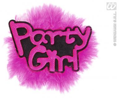 Junggesellinnenabschied Brosche pink mit Marabu Federn Hochzeit
