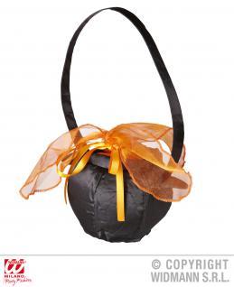 Hexentasche, Hexenkessel schwarz orange Karneval, Halloween