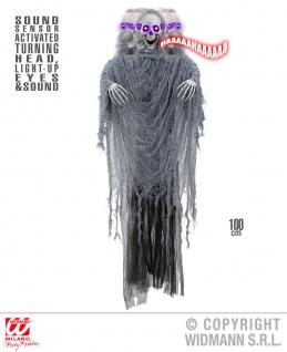 Deko Figur Sensenmann animiert mit Sound Kopf beweglich Halloween