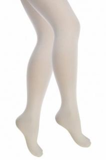 Weiß Strumpfhose Kinder Mädchen Blickdicht 70 Den Größe 116-128