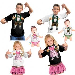 FUN T-Shirt BABY Bayer Kinder ---XS = 3-4 J weiss Lederhose