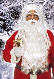 Deluxe Weihnachtsmann Perücke + Bart lang + Augenbrauen 1524