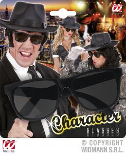Charakter Brille schwarz, Mafia, Gangster, Rocker Damen und Herren