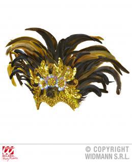 Kopf Federschmuck Sao Paulo gold Karneval Rio Show, Damen 1178