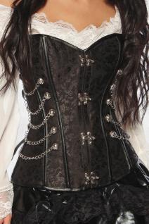 Burlesque Gothic sexy Corsage, schwarz, Steampunk, Effektapplikation Damen