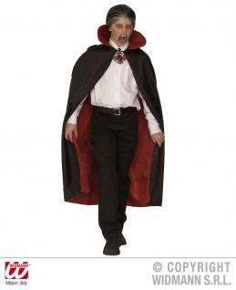 Dracula, Vampir Teufel WENDE Umhang, Kinder gefüttert Deluxe - Vorschau