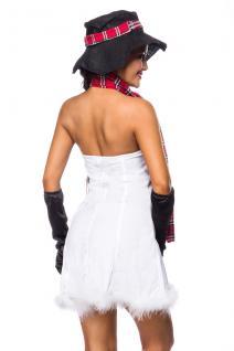 5 tlg. Schneemann Weihnachts Kostüm Damen Hut Schal Handschuhe - Vorschau 2