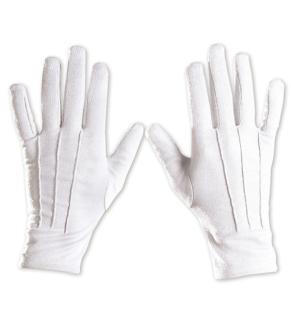 Handschuhe weiß S-M + XL, Zauberer, Magier, Clown, Weihnachtsmann
