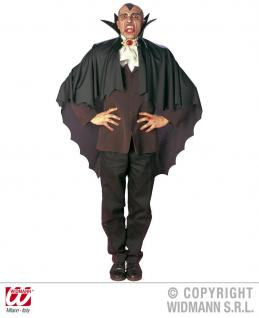 Vampir Umhang, Cape, schwarz m. Kragen Herren u. Kinder 3582 - Vorschau 3