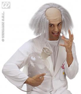 Einstein Perücke mit Glatze Herren Karneval Fasching