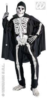 Skelett Kostüm 4 tlg. ---M