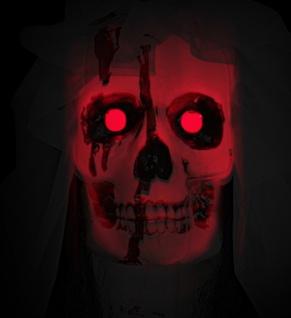 Figur Skelett Lebensgroß Braut Tod Horror 170 cm LED leuchtend Halloween Deko - Vorschau 3