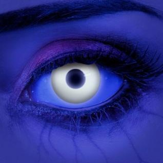 UV farbige Kontaktlinsen weiß Horror Halloween Zombie Jahreslinsen