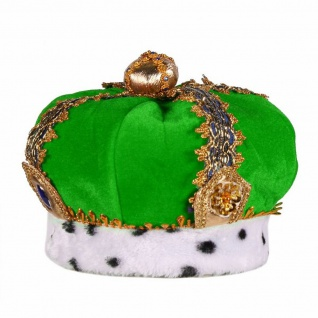 Froschkönig Königskrone deluxe Samt grün gold p. z. Umhang