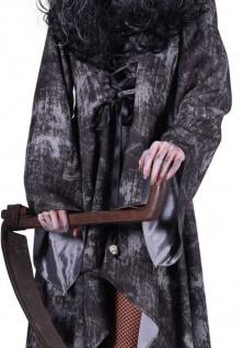 Kostüm mit Kapuze Tod, Vampira, Zombie ---XS=34 - Vorschau 2