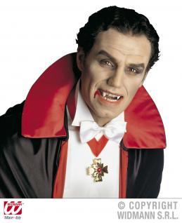Dracula Vampir Eckzähne, Aufsteckzähne, Gebiss Zähne wie echt! - Vorschau 2