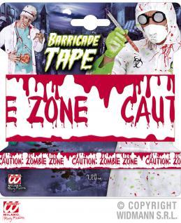 ABSPERRBAND Halloween, 7, 20 m Zombie Horror Party Deko