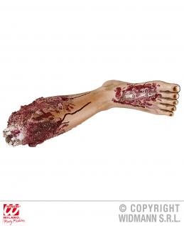 Blutiges abgetrenntes Bein Gliedmaßen Deko Horror Halloween