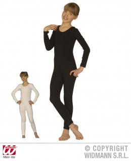 Einteiler, Body, lange Arme, schwarz, weiß Kinder, S, M, L 1138