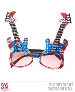 Brille mit Gitarren, Rocker Mottoparty Spaß Gag