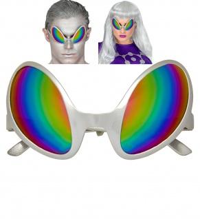 Alien Space Weltall Brille holografische getönte Gläser Damen Herren