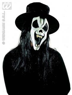 Scream Geist Maske + Hut + Haare, Grusel, Halloween , Horror - Vorschau 4