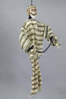 Zombie Figur hängend Knastbruder Knacki 90 cm LED Deko Halloween