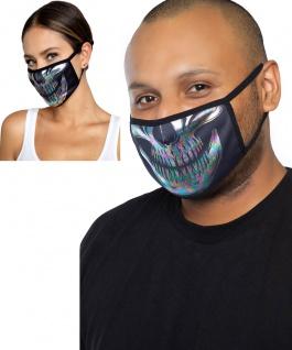 Totenkopf Skull Mundschutz Maske Gesicht Maske irisierend Unisex