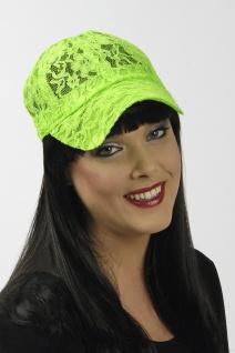 NEON grün Base Cap Kappe Mütze Damen und größere Kinder aus Spitze - Vorschau 1