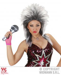 AUFBLASBARES, Mikrofon 25 cm Karaoke Mottoparty Karneval