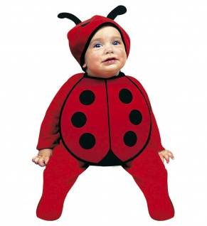 2 tlg. Marienkäfer Kostüm Kleinkind Baby Kappe, Lätzchen Karneval 80 cm