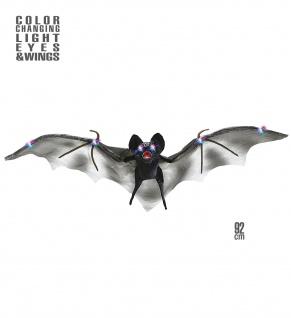 Riesen, Fledermaus, 92 cm mit Farbwechsel Augen und Flügel Deko, Halloween