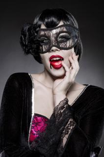 Gothic Vampire Kostüm Komplettset Kleid Maske Damen - Vorschau 4