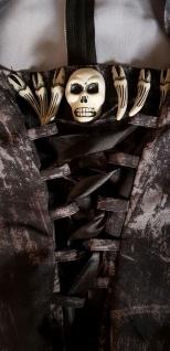 Kostüm mit Kapuze Tod, Vampira, Zombie ---XS=34 - Vorschau 4