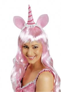 Einhorn Haarreif ROSA Damen, größere Kinder Zubehör Kostüm