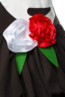 Mexican Dead Skeleton Kostüm 4 tlg Komplettset Knochenkostüm Blumen Damen 34-36 - Vorschau 5