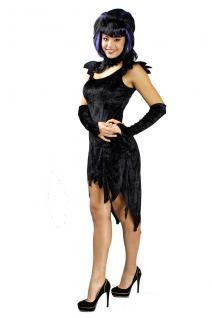 3tlg Hexen Teufel Kleid schwarz - Vorschau 2