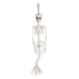 Deko Hänge Skelett Figur Meerjungfrau 40 cm Mermaid Halloween Karneval