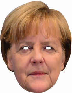 Angela Merkel 2D Gesichtsmaske Promi Politiker - Vorschau