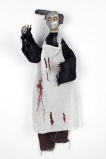 Figur blutiger Metzger Tod Hängefigur animiert Bewegung Halloween