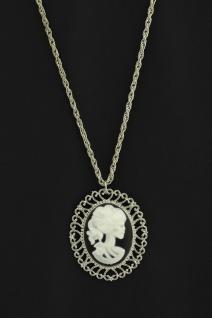 Halskette Medaillon silber Skelett Geisterbraut Horror Halloween Damen - Vorschau 2
