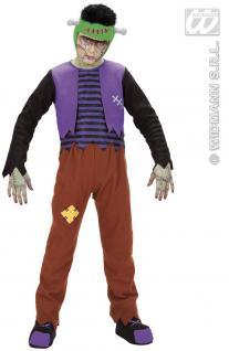 Frankenstein Kostüm, Kinder, Halloween, Karneval Gr. 128 5876