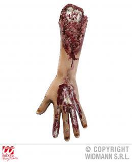 Blutiger abgetrennter abgerissener Arm Gliedmaßen Deko HorrorHalloween