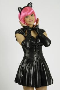 2 tlg. Sexy Katzen Kostüm Wetlook Optik Damen ---40-42